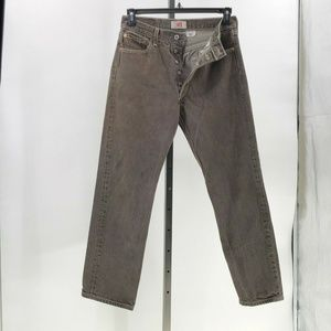 levi's 501XX mens button fly jeans gray wash